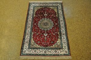 Oriental Rugs For Sale Red Hand Knotted 3 X 5 Silk Tabriz New Rug
