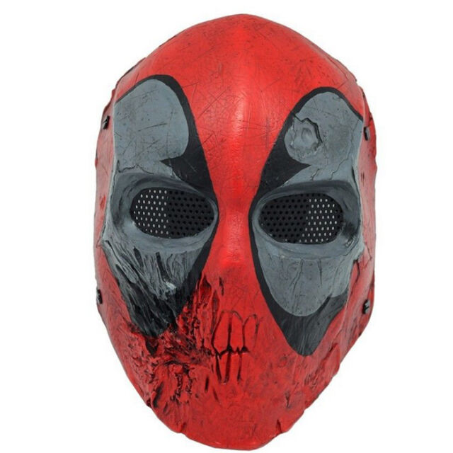 T0688 Full face paintball Airsoft Wire Mesh Dead Pool Army ABS plastic mask