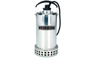 Details about 3/4 HP Submersible Utility Pump Stainless Steel Construction  4400 GPH Draining