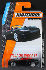 2014 Matchbox #4 Aston Martin DBS Volante ONYX BLACK/MOC