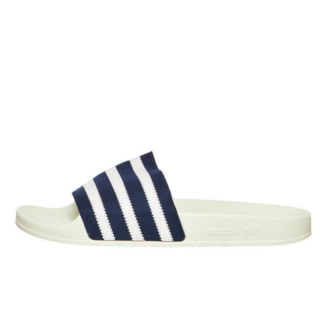 adidas Adilette Collegiate Navy Footwear White Off