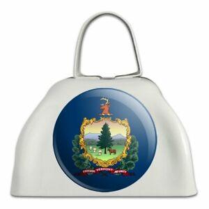 Acheter Pas Cher Vermont état Drapeau En Métal Blanc Sonnaille Vache Bell Instrument-afficher Le Titre D'origine