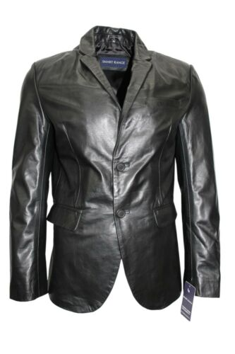 New Men/'s Classic Napoli Italian Tailored Fit Blazer Buffalo Leather Jacket Coat