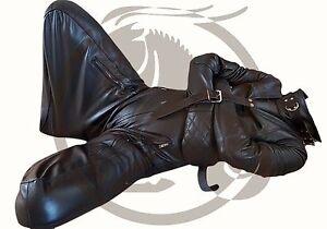 Leather Strait jacket Straight Puppy Suit Jacket Bondage Padding ...