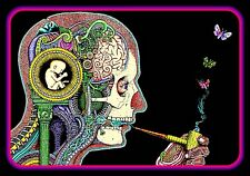 "4.5/"" Psychedelic Third Eye Vision vinyl sticker Mushroom DMT decal for bong."