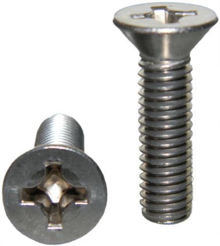 "Stainless Steel Flat Head machine Screws 10-32 x 1//4/"" Qty 25"