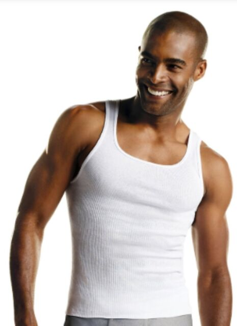 9602fe92100 Hanes Men Mens 3 Tagless ComfortSoft Tanks 100 Cotton White Medium M