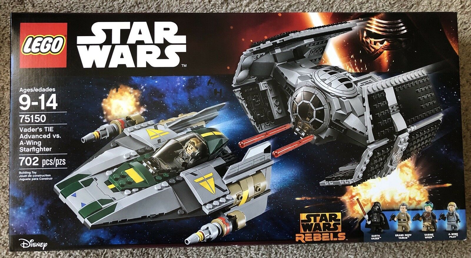 LEGO Star Wars Vader's TIE Advanced vs. A-Wing Starfighter  75150  NEW * SEALED