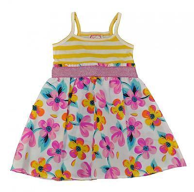 Sugah /& Honey Toddler//Little Girls Striped Floral Print Dress 2T 3T 4T 4 5 6 6X