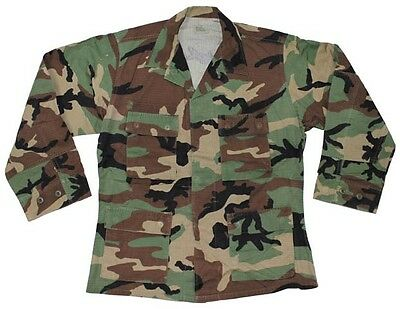 US Army Ranger MARSOC Special Forces shirt Jacket BDU woodland camouflage Small