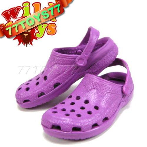 Wild Toys 1/6 Clogs_ Purple_ Sandel Fashion Shoes ACI  WT006C