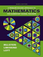 A Problem Solving Approach to Mathematics for Elementary School Teachers (9th Ed