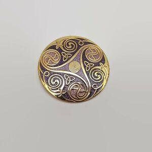Celtic-Sea-Gems-Gold-Tone-amp-Purple-Enamel-Pin