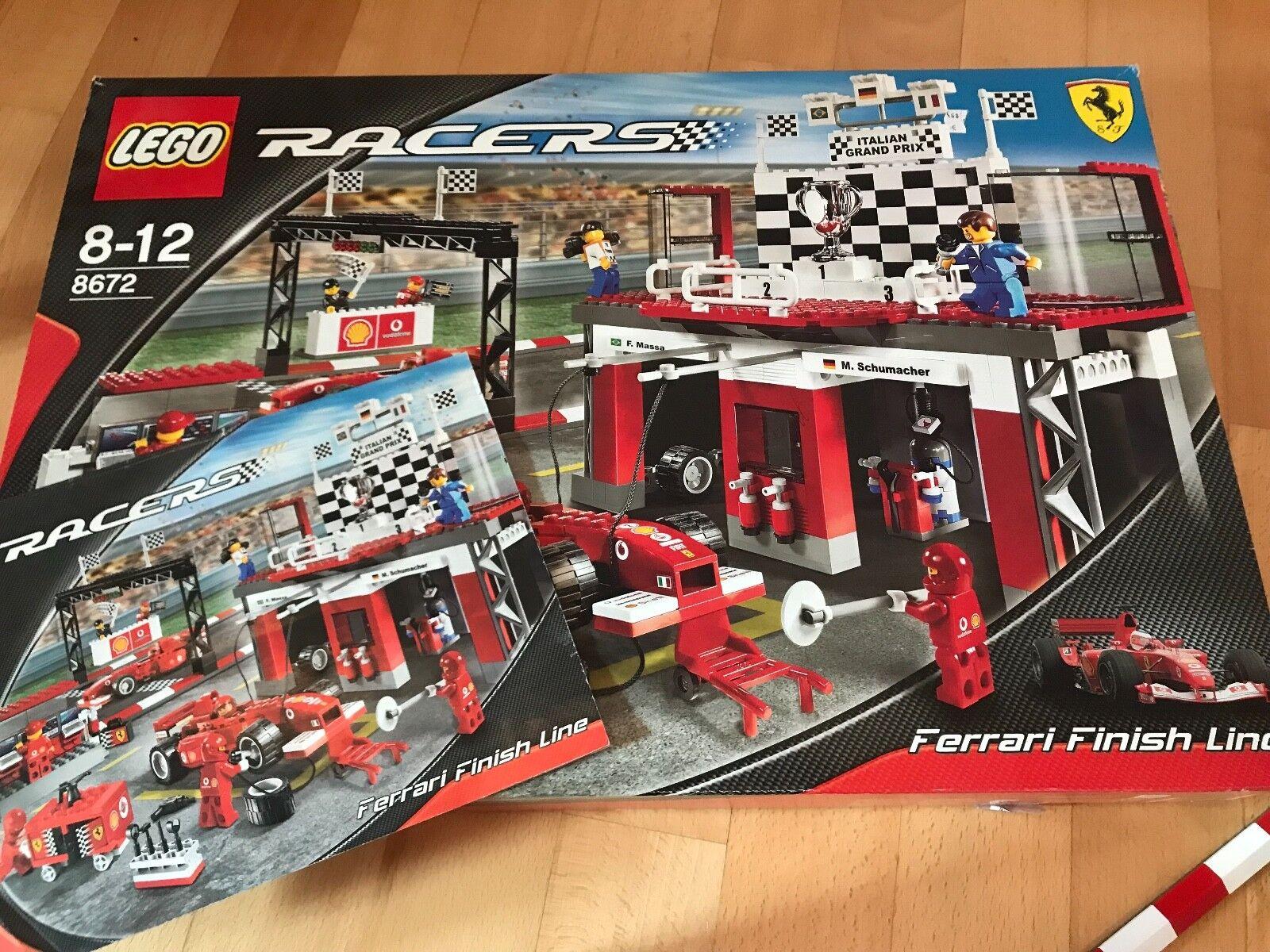 LEGO Racers Ferrari Zieleinfahrt (8672) Schumacher Scuderia Massa Boxengasse USA USA USA 616299