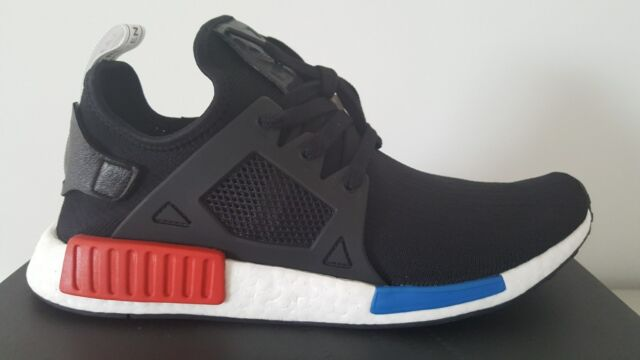super popular 7b1f0 5601d adidas NMD Xr1 2017 PK Primeknit US Sz 10.5 Black Blue Red Originals By1909