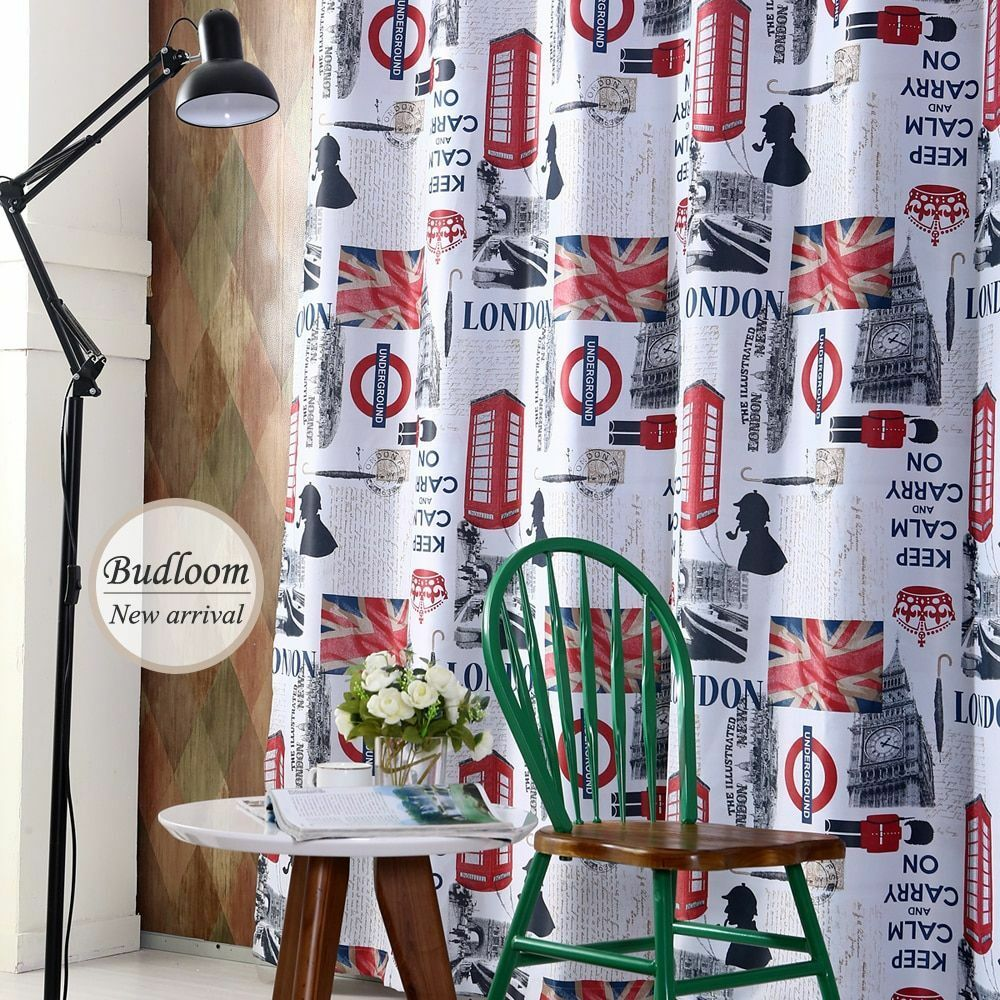 Fashion Curtains For Living Room Bedroom Cartoon Window Shade Screens Decoration