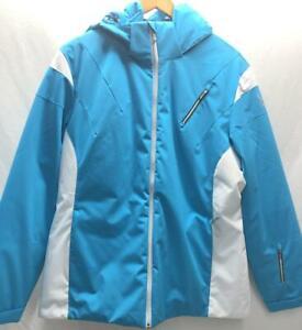 Spyder Womens Amp Insulated Snow Ski Winter Jacket Purple Blue White NEW