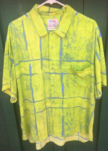 Jams World Men's XL Crinkled Rayon Colorful Abstra