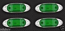 4x 6 LED VERDE 12V LATO CROMO LUCI DI POSIZIONE Roulotte auto SUV Pickup Offroad