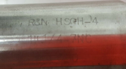 Made in the USA R/&N H4 1-1//4 inch 7 NC threads 4 flutes RH metal tap tool