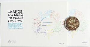 2 Euro Commémorative de Portugal 2012 Belle Épreuve (BE) - 10 Ans de l'Euro