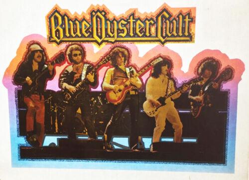 Vintage Blue Oyster Cult Transfer T-Shirt 80/'s Heavy Metal Glitter NOS