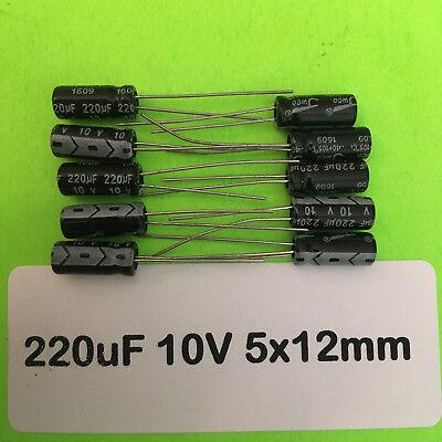5pz SMD Electrolytic Capacitor 220uf//10v 6,3x5,2mm 7103905