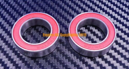 6805-2RS Width 6mm HYBRID CERAMIC Si3N4 Ball Bearing 25x37x6 mm Red QTY 2