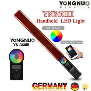YONGNUO YN360III 3200-5500K Bi-Farbe+RGB Handheld LED Videoleuchte Fülllicht bar