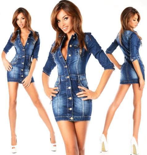 Jeans 4 Bleu Sexy Robe Crayon Mini J Femmes Bureau 3 Denim 651 Neuf Manche vwqE8ETU