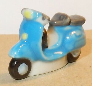 1960 Scooter Vespa Piaggio Bleu Feve Porcelaine 3d Ho 1/87 Lrwaauxq-07225120-577872046