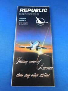 REPUBLIC-AIRLINE-TIMETABLE-SCHEDULE-AUGUST-1981-JOINING-MORE-OF-AMERICA-VINTAGE
