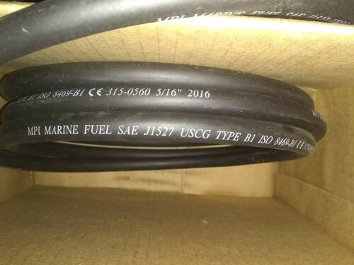 "5//16/"" ID Type B1 Marine Fuel  Hose Line  MPI Premium  B1 Sold  By The Foot"