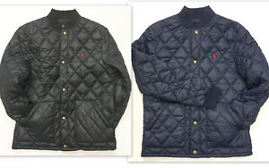 ba1499a2b Polo RALPH LAUREN Boys Jacket Size 14-16 Large Quilted Baseball ...