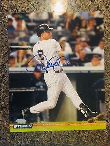 Derek Jeter - New York Yankees - Autographed 8x10 with Steiner COA