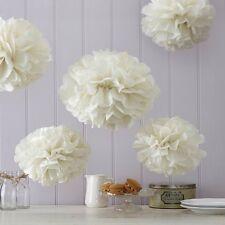 Ivory Tissue Paper Pom Poms (5)