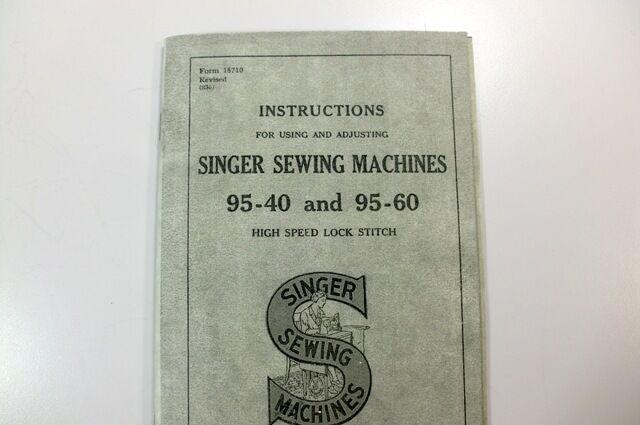 Singer 95 40 95 60 Sewing Machine Instruction Manual Ebay
