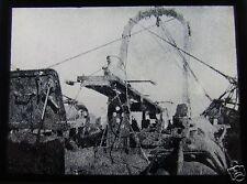 Glass Magic lantern slide HMS BERBERIS 1917 EARLY MINESWEEPER GEAR WW1 SHIP