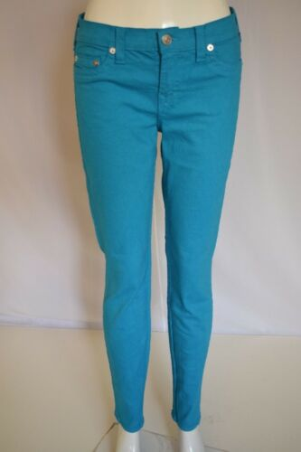 True 31 In Mid Halle Religion Super Rise Sz Turchese Donna Crop Jeans Skinny rwPrvq