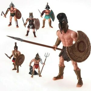 Lot-De-6-Figurines-Gladiateurs-Romain-Jouet-Enfant-Rome-Arene-Combat-Collisee