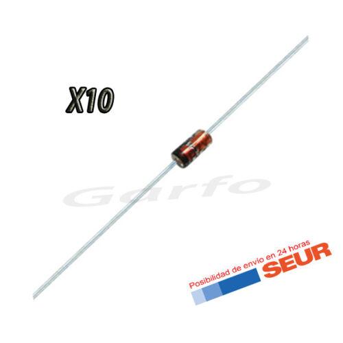 10X Diodo Zener 18V 500mW 0,5W DO-35