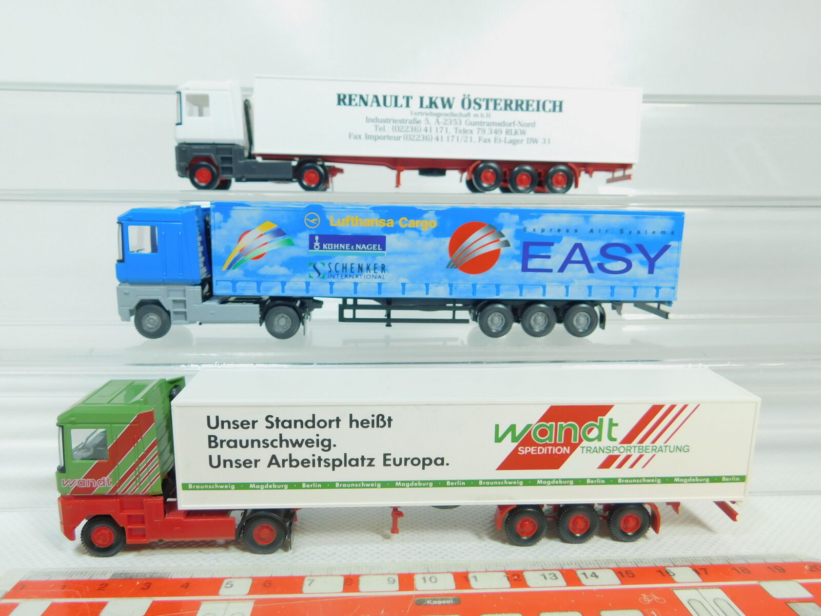 BO714-0, 5 x Wiking H0   1 87 Lorry Renault  Austria + past + Easy, Very Good