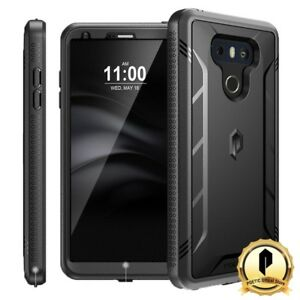 Poetic-For-LG-G6-Revolution-Rugged-Case-With-Built-In-Screen-Protector-Black