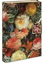 Punch Studio Jeweled Brooch Hard Cover Note Book Journal Diary-Baroque Flowers
