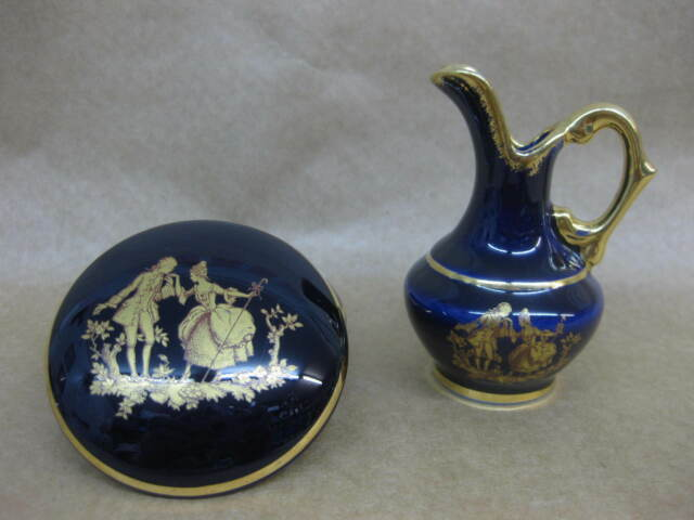 Limoges Cobalt Blue Collection On Ebay