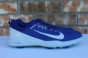 4cc88dcc0223 Men s Nike Lunar Command 2 Golf Cleats Shoes Blue White Size 10-13 ...