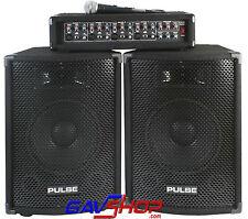 Pulse PMH200 KIT 200W Mixer Amp PA System Microphone Speakers & Leads DJ Karaoke