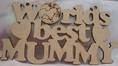 Mothersday Plaque MDF Worlds BEST MUM MUMMY GRAN WIFE AUNTIE