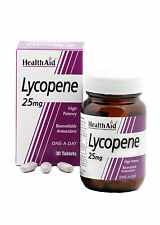 Healthaid licopeno 25mg-antioxidante natural biodisponible 30 comprimidos