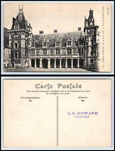 FRANCE-Postcard-Chateau-de-Blois-Aile-de-Louis-XII-Tour-du-Grand-Escalier-J23